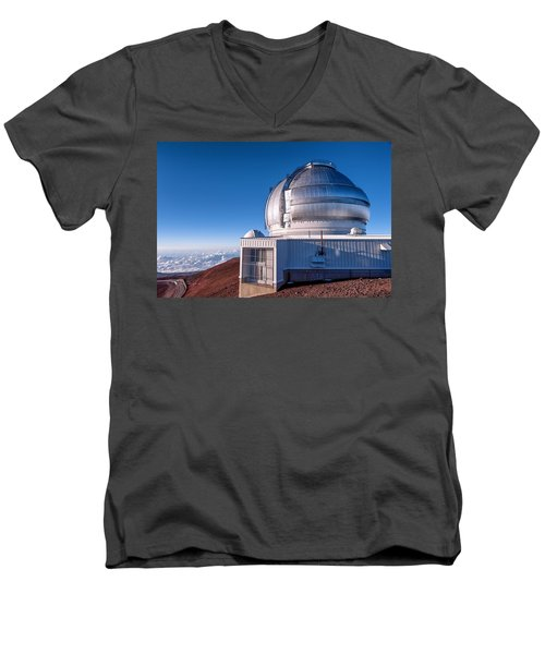 Men's V-Neck T-Shirt featuring the photograph The Gemini Observatory by Jim Thompson