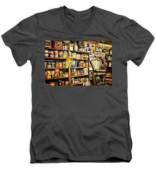 The General Store Men's V-Neck T-Shirt by Lana Trussell