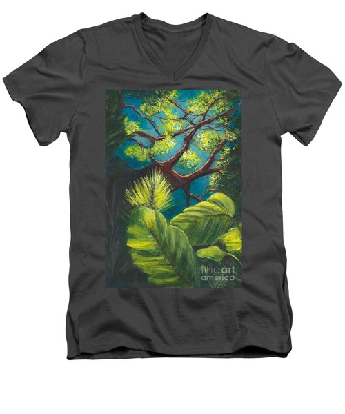 The Goblin Market Restaurant Tree Mt. Dora Men's V-Neck T-Shirt