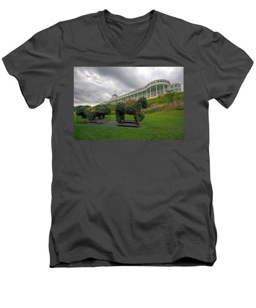 The Grand Hotel Mackinac Island Men's V-Neck T-Shirt