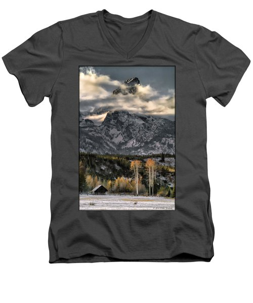 The Grand Teton Men's V-Neck T-Shirt