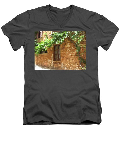 The Grapevine Men's V-Neck T-Shirt by Pema Hou