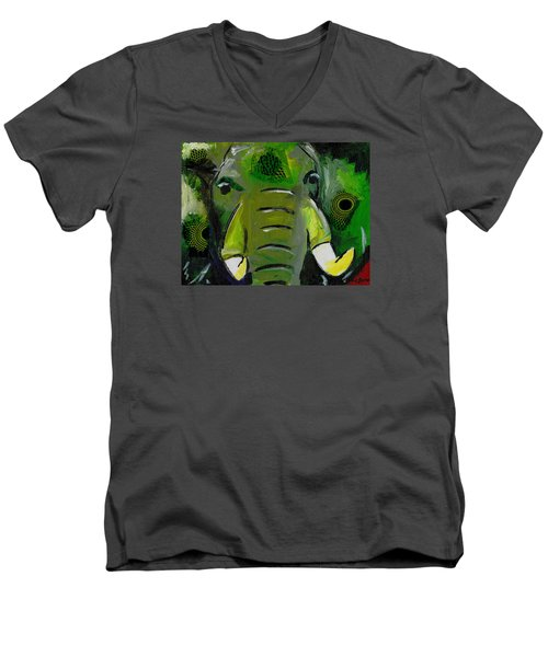 The Green Elephant In The Room Men's V-Neck T-Shirt