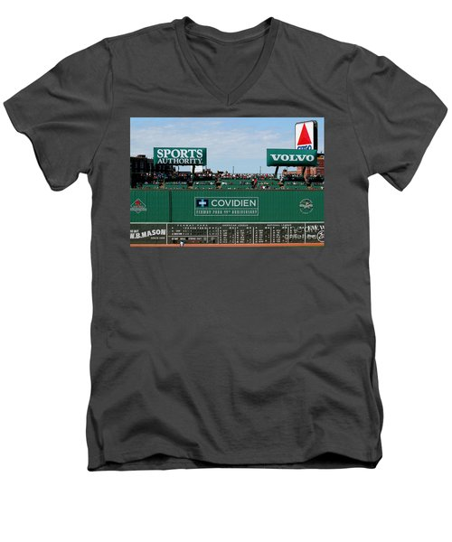 The Green Monster 99 Men's V-Neck T-Shirt by Tom Prendergast
