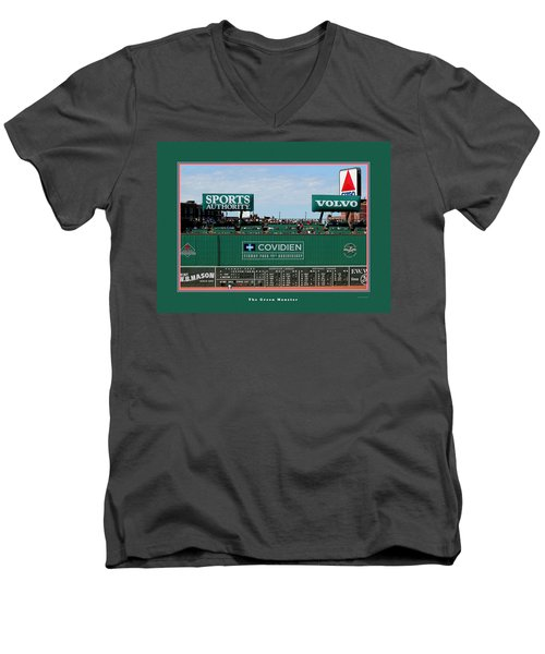 The Green Monster Fenway Park Men's V-Neck T-Shirt by Tom Prendergast