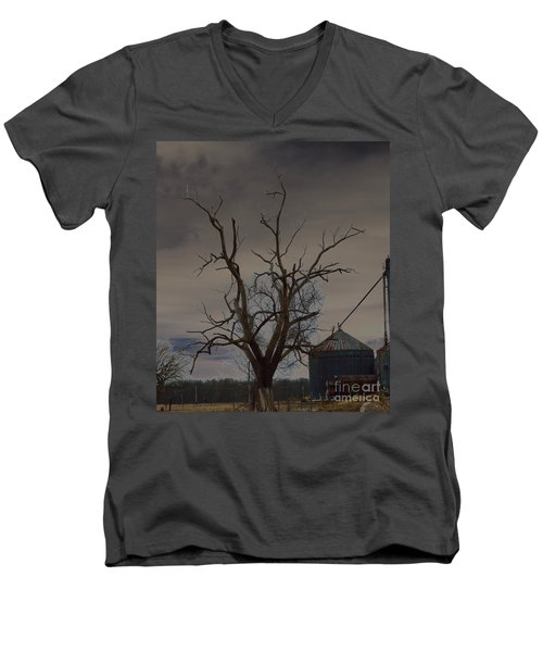The Haunting Tree Men's V-Neck T-Shirt by Alys Caviness-Gober