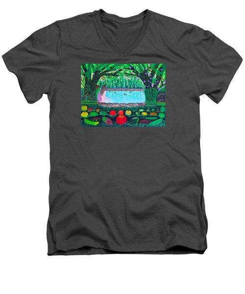 The Hidden Water Men's V-Neck T-Shirt