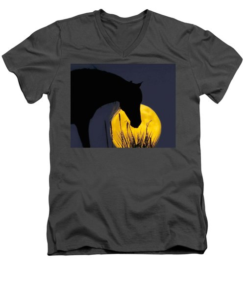 The Horse In The Moon Men's V-Neck T-Shirt