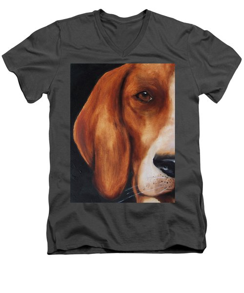 The Hound Men's V-Neck T-Shirt