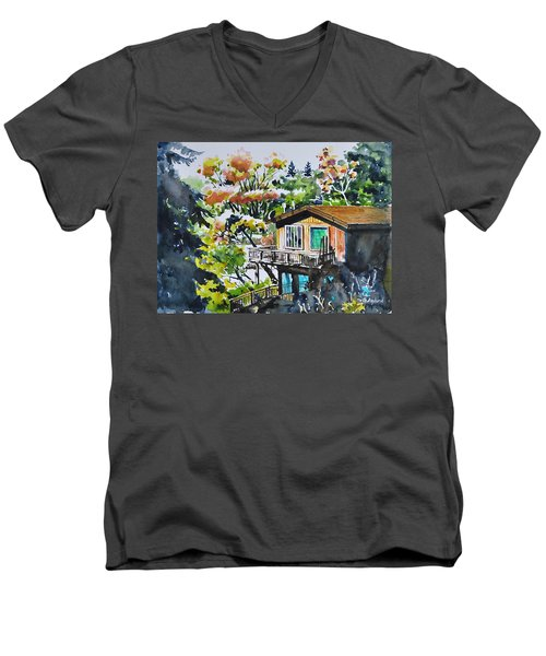 The House Hiding In The Bushes Men's V-Neck T-Shirt