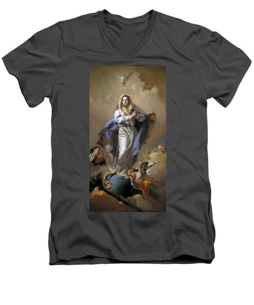 The Immaculate Conception Men's V-Neck T-Shirt by Giovanni Battista Tiepolo
