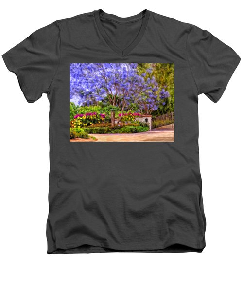 The Jacaranda Men's V-Neck T-Shirt by Michael Pickett