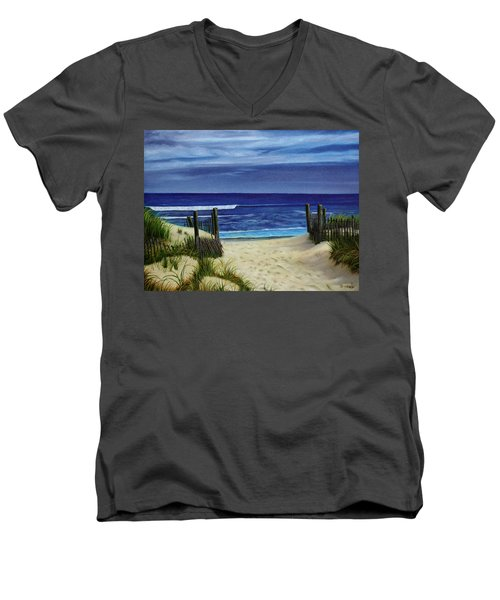 The Jersey Shore Men's V-Neck T-Shirt