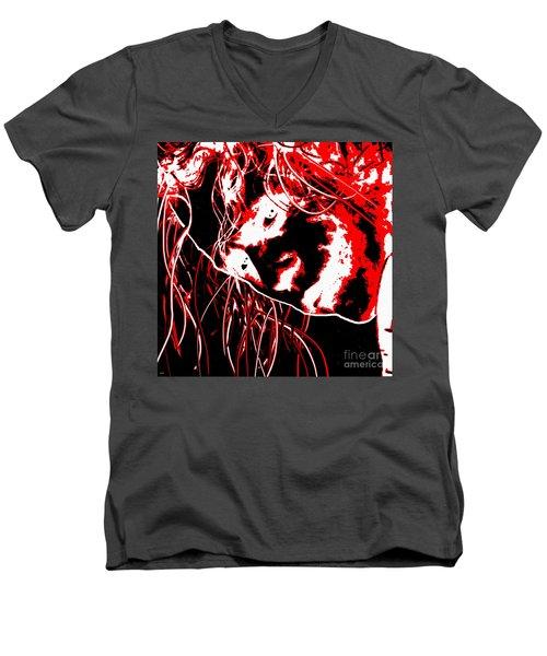The Joker Men's V-Neck T-Shirt by Daniel Janda