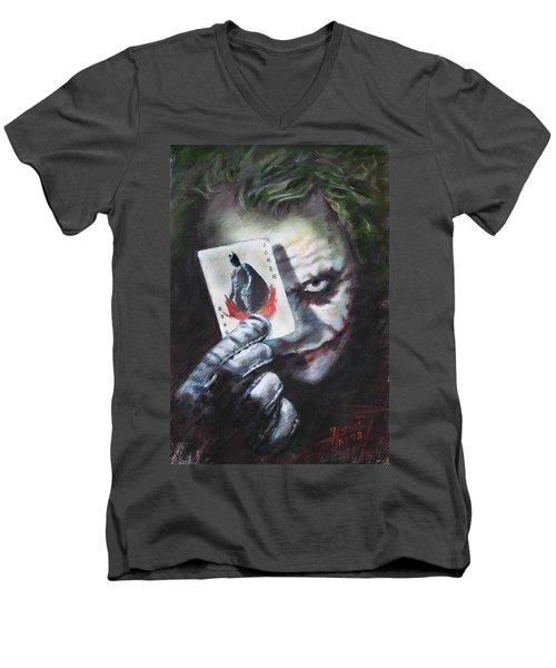 The Joker Heath Ledger  Men's V-Neck T-Shirt