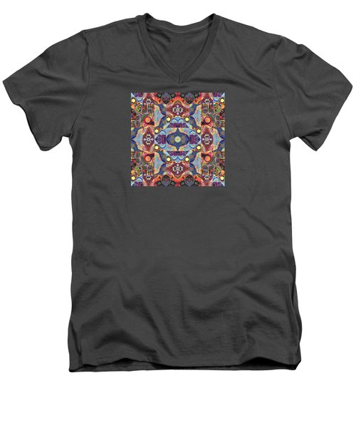 The Joy Of Design Mandala Series Puzzle 1 Arrangement 1 Men's V-Neck T-Shirt