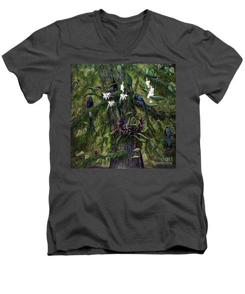 The Jungle Of Guatemala Men's V-Neck T-Shirt by Jennifer Lake