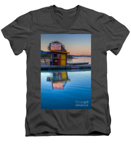 The Kayak Shack Morro Bay Men's V-Neck T-Shirt