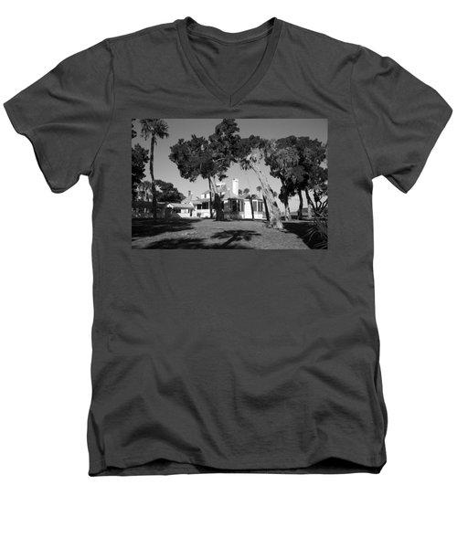The Kingsley Plantation Men's V-Neck T-Shirt by Lynn Palmer