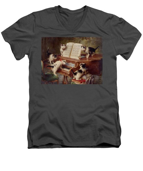 The Kittens Recital Men's V-Neck T-Shirt