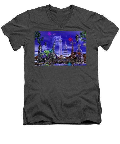 Men's V-Neck T-Shirt featuring the photograph The Lakes Of Zorg by Mark Blauhoefer