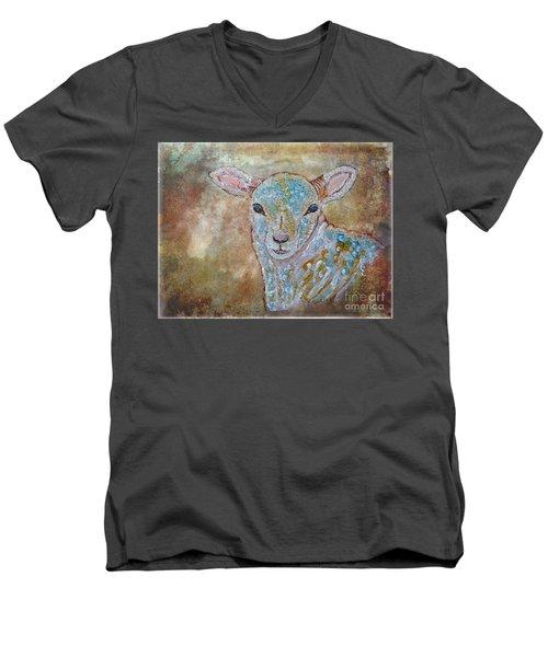 the Lamb Men's V-Neck T-Shirt