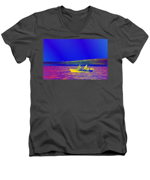 Men's V-Neck T-Shirt featuring the photograph The Lazy Sunday Afternoon by David Pantuso