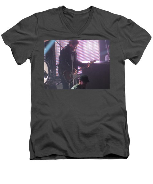 The Leadsinger Of Newsong Men's V-Neck T-Shirt