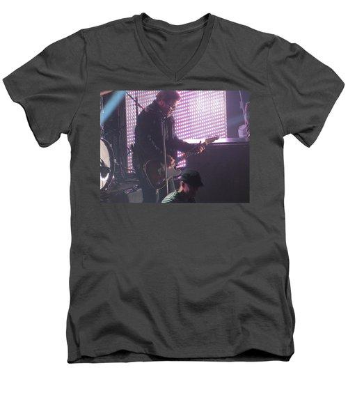 The Leadsinger Of Newsong Men's V-Neck T-Shirt by Aaron Martens