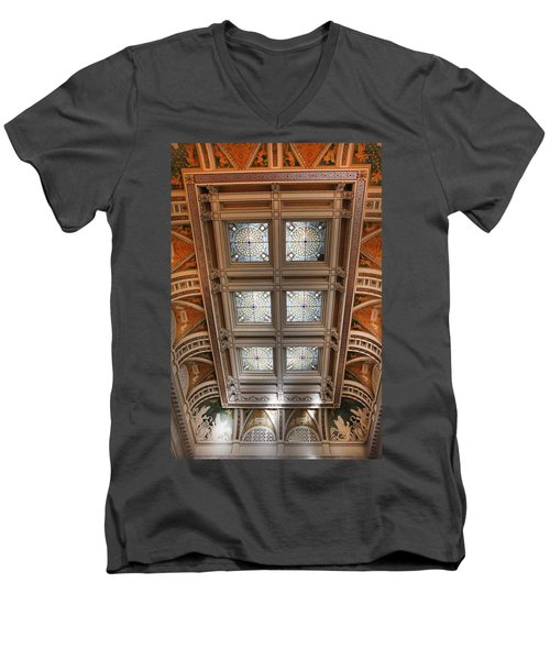 The Library Of Congress Men's V-Neck T-Shirt