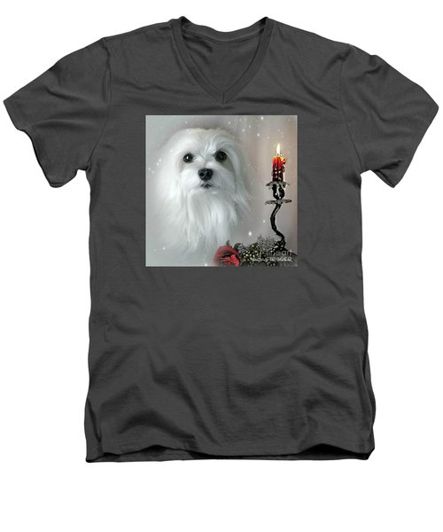The Light In My Life Men's V-Neck T-Shirt by Morag Bates