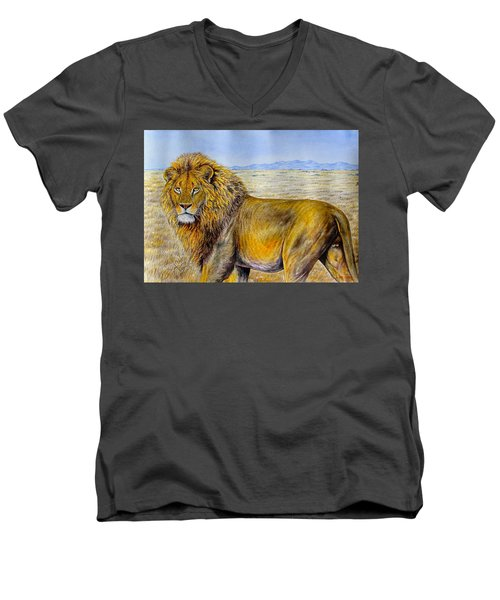 The Lion Rules Men's V-Neck T-Shirt