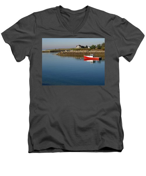 The Little Red Boat Men's V-Neck T-Shirt
