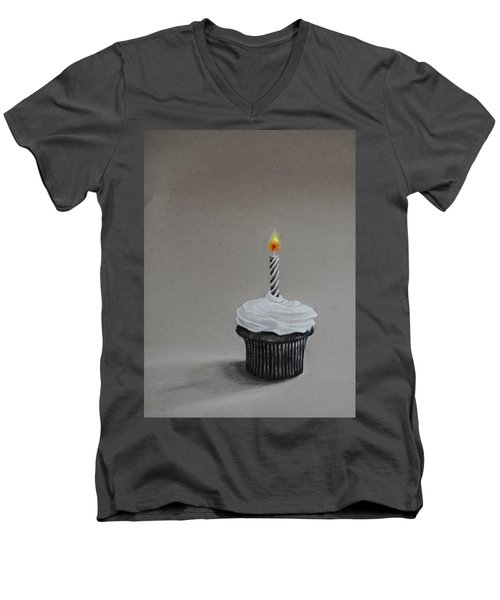 The Loneliest Birthday Ever Men's V-Neck T-Shirt by Jean Cormier