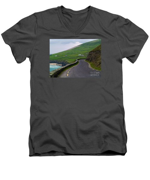 The Long And Winding Road Men's V-Neck T-Shirt by Patricia Griffin Brett