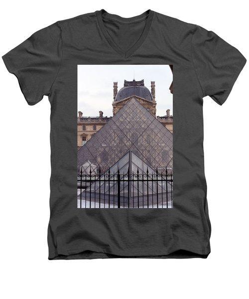 The Louvre Men's V-Neck T-Shirt