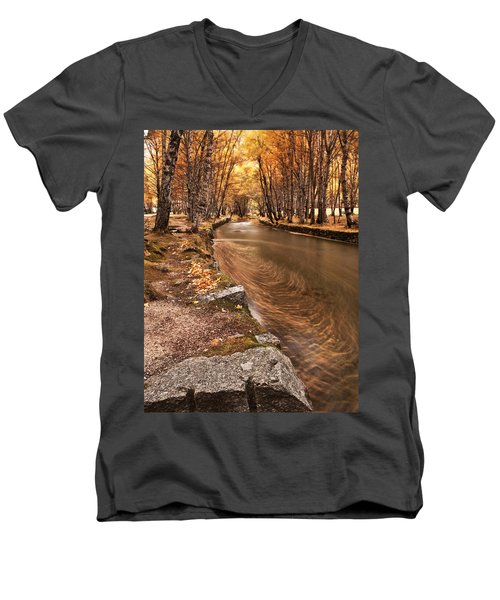 The Magic Of Fall Men's V-Neck T-Shirt