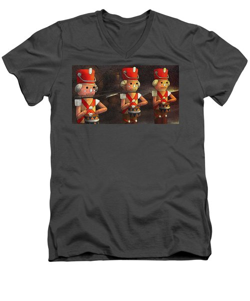 The March Of The Wooden Soldiers Men's V-Neck T-Shirt by Reynold Jay
