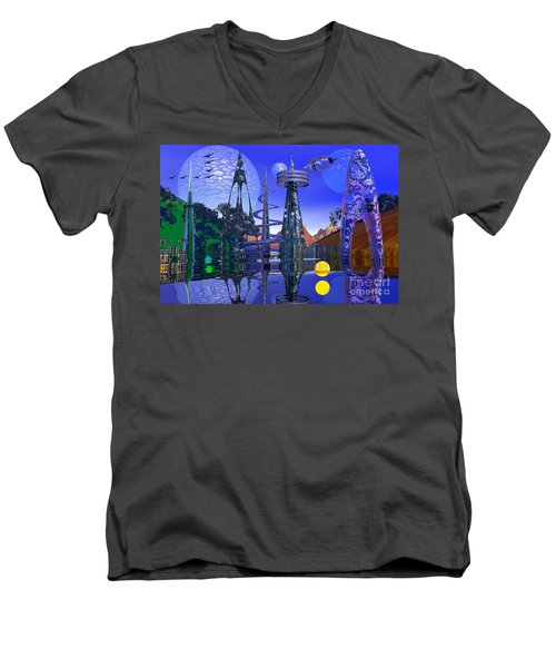 Men's V-Neck T-Shirt featuring the photograph The Mechanical Wonder by Mark Blauhoefer
