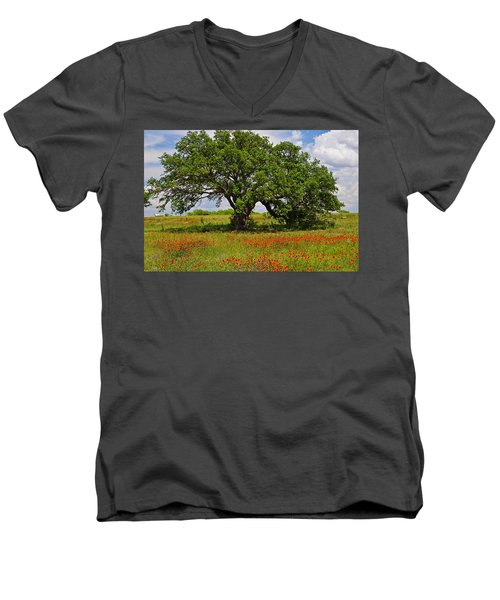 The Mighty Oak Men's V-Neck T-Shirt