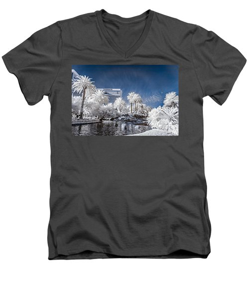 The Mirage In Infrared 1 Men's V-Neck T-Shirt