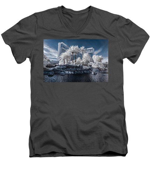 The Mirage In Infrared 2 Men's V-Neck T-Shirt