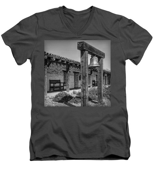 The Mission Bell B/w Men's V-Neck T-Shirt by Hanny Heim