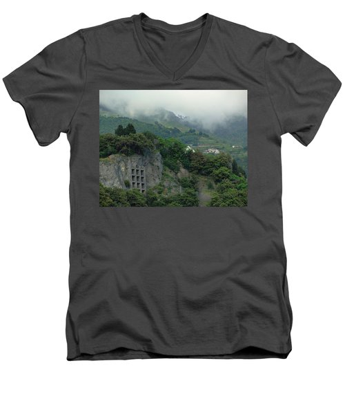 Men's V-Neck T-Shirt featuring the photograph The Mist Cometh by Natalie Ortiz