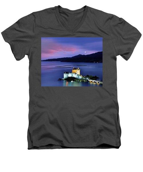 The Moon Above Men's V-Neck T-Shirt