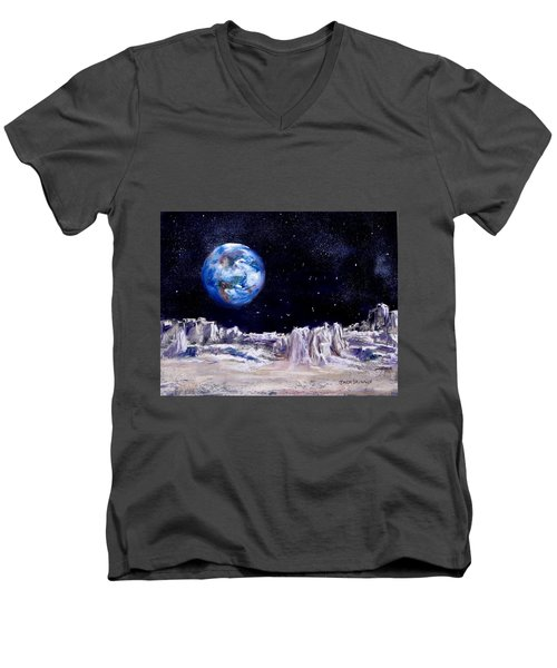 The Moon Rocks Men's V-Neck T-Shirt by Jack Skinner