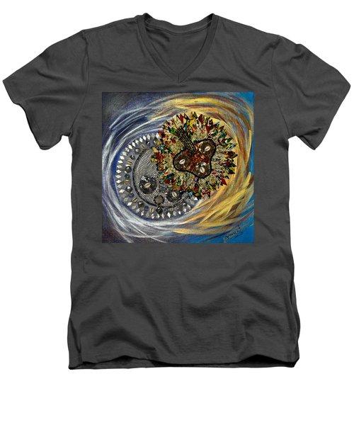 The Moon's Eclipse Men's V-Neck T-Shirt