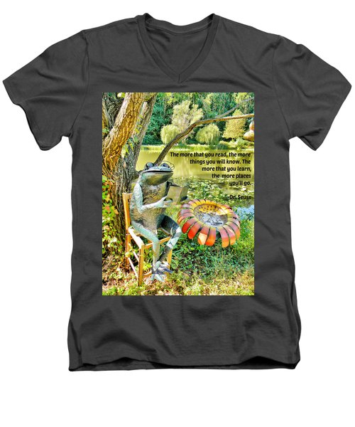 Men's V-Neck T-Shirt featuring the photograph The More That You Read... by Jean Goodwin Brooks