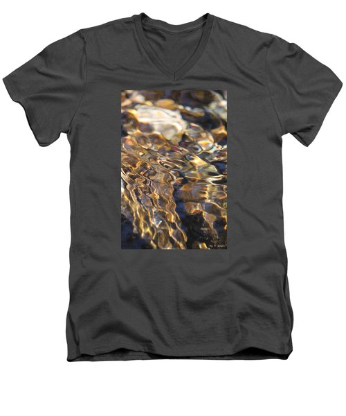 Men's V-Neck T-Shirt featuring the photograph The Music And Motion Of Water by Amy Gallagher