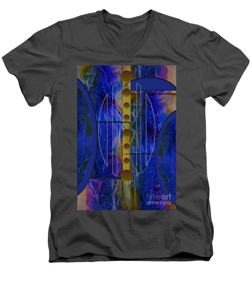 The Musical Abstraction Men's V-Neck T-Shirt